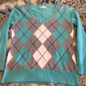 Mint checkered sweater